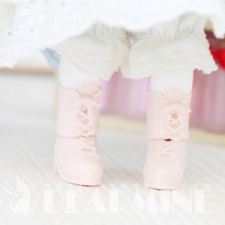 Lace-up boots parts Pink