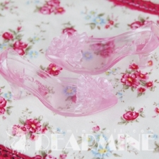 ROSE DRESS SHOES Clear pink