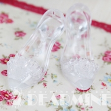 ROSE DRESS SHOES Clear white