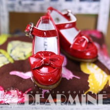Ribbon Pumps Red